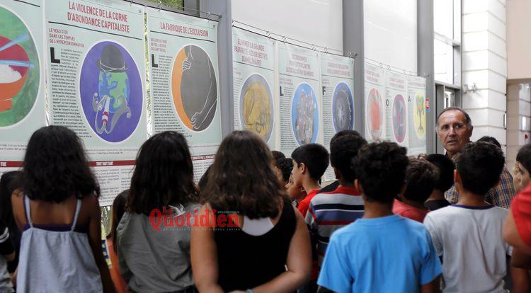 A la bibliotheque départementale de La Réunion, une exposition sur la pauvr