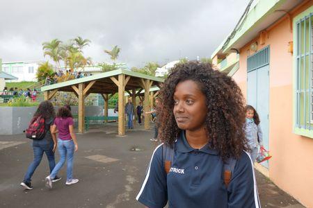 """Rachel a obtenu le statut de """"jeune reporter photographe"""" lors du cross district. (Crédit: le club presse du collège de Trois Bassins)"""