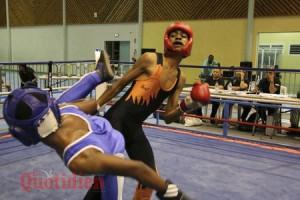 gala de boxe française - août 2017 - florent armougom (le plus grand) contre yoni ranemachise (rivière des galets) - plateau caillou