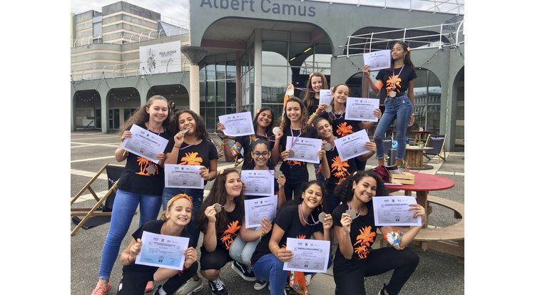 danse - colleges les Mascareignes en argent France unss