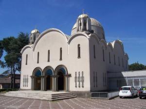 "Basilique Santa Sofia ""Sainte-Sophie"" de Rome, en Italie"